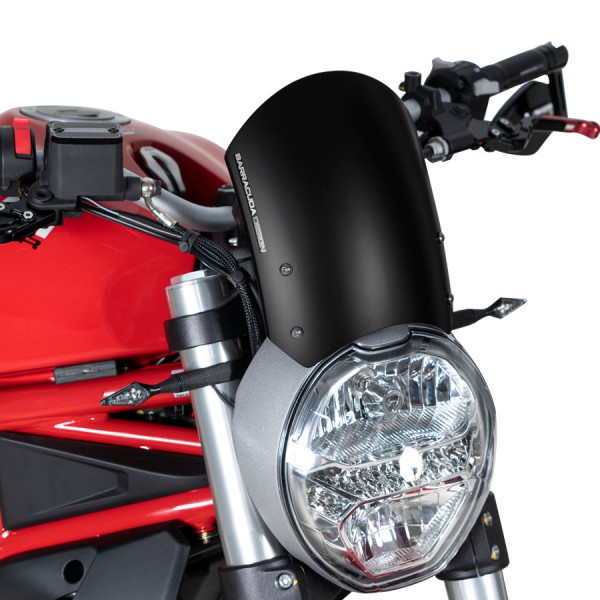Windschild Classic Aluminium voor Monster 797