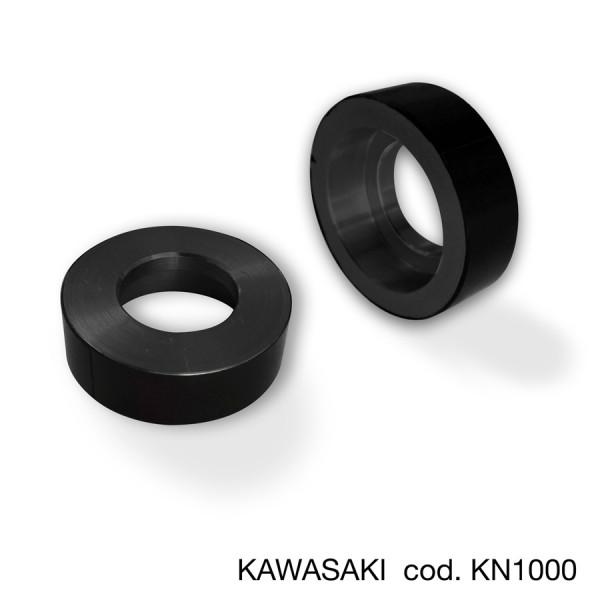KAWASAKI adaptors voor de remhendelprotectors en Bar End Spiegels (set)